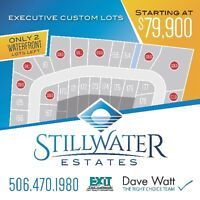 STILLWATER ESTATES- Waterfront Properties for your Custom Build