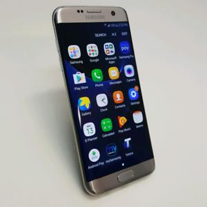 SAMSUNG S7 EDGE 32GB SILVER COLOUR WITH SAMSUNG WARRANTY