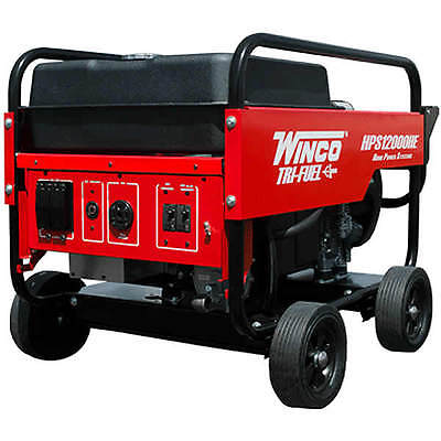 Winco Hps12000he - 10800 Watt Tri-fuel Generator W Electric Start Honda Engine