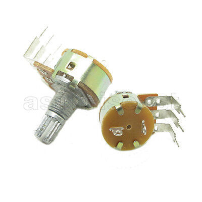10x 10k Linear 14w Rotary Potentiometer Single Turn B10k Pot With Switch Off On