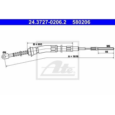 ORIGINAL ATE Handbremsseil Bremsseil BMW 3er E21 Bj.78-82