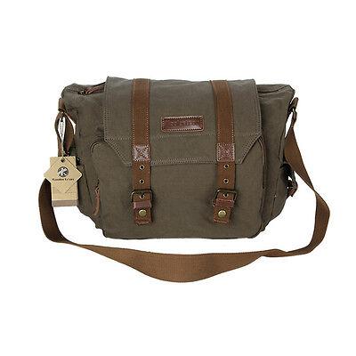 Koolertron Canvas DSLR Camera Bag Insert Case Shoulder Messenger Bag For Canon