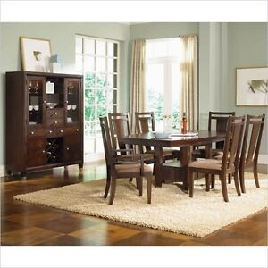 8 piece Broyhill Dining Set(table,chairs,hutch)for sale$1400