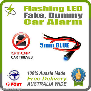 Blue-5mm-Flashing-LED-Fake-Dummy-Car-Alarm-STOP-THIEVES