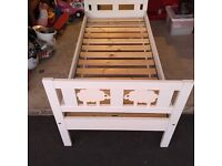 Small Child IKEA bed white