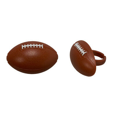 Football Cake Toppers (24 Football Cupcake Rings Sports Cake Toppers Decorations Party Favors)