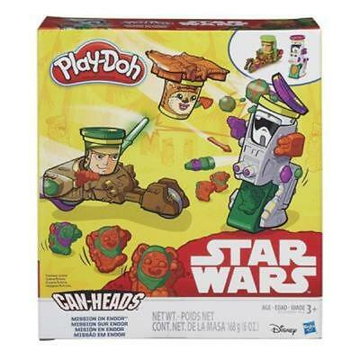 NEW HASBRO PLAY-DOH STAR WARS CAN-HEADS MISSION ON ENDOR B2524 3 CANS PLAYDOH
