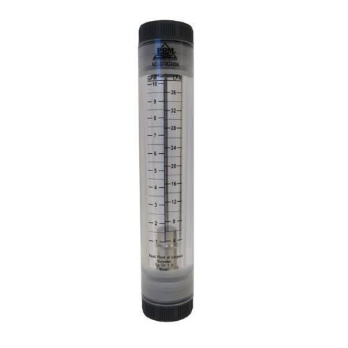 "PRM 1-10 GPM Rotameter Viton Seals 1"" FNPT Connect Water Flow Meter"