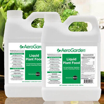 AeroGarden Hydroponic 2X1 Liter Liquid Plant Food Nutrients for sale  Shipping to South Africa