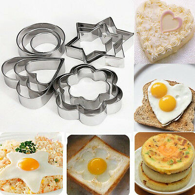 12Pcs Stainless Steel Cookies Cutter Mold Fondant ...