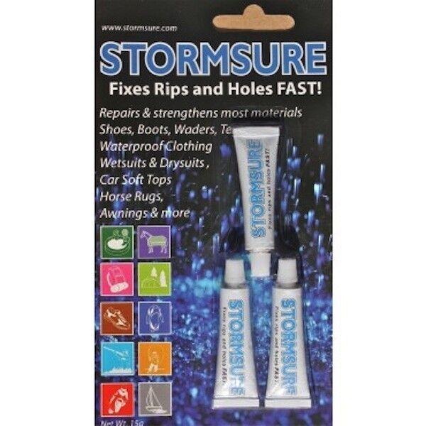 Stormsure clear repair adhesive glue 3 5g bottles to repair flexible material