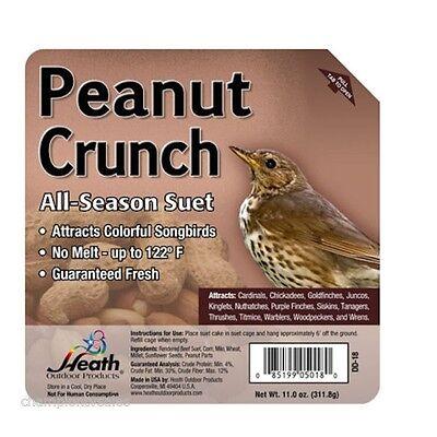 PACK of 12  Peanut Crunch Suet Cake Bird Treats Food 11.25OZ