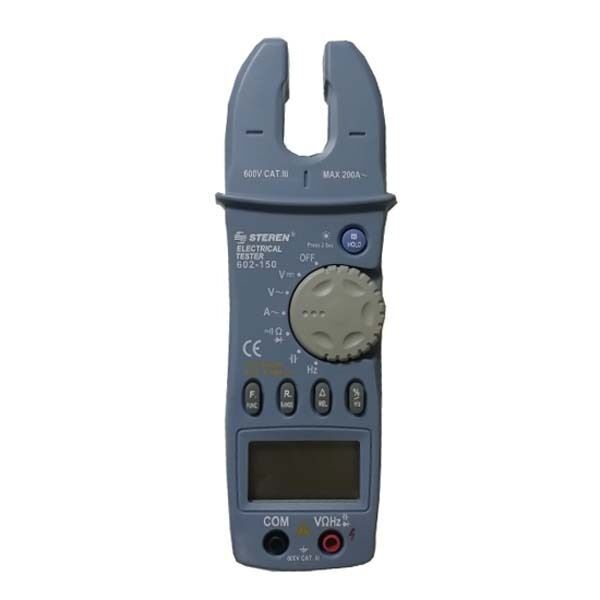 Steren 602-150 Open Jaw Multi-Meter 200 Amp Digital Clamp with Back-Lit LCD