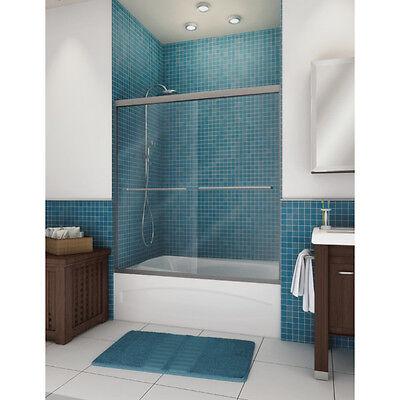 Bath Tub & Shower By-Pass Sliding Door Frameless 55