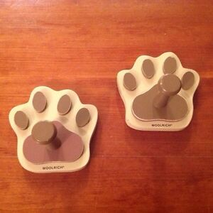 "Cute Pair Of Bear Paw Coat Hooks By ""Woolrich "" Kitchener / Waterloo Kitchener Area image 1"