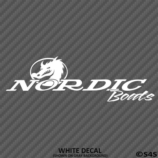 Nordic Boats Outdoors/Boating/Fishing Vinyl Decal Sticker -