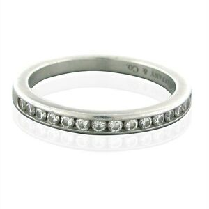 ... about Tiffany  Co Platinum Chanel Set Diamond Wedding Band Ring 2650
