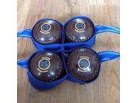 Taylor International size 4 heavy bowls. VGC.