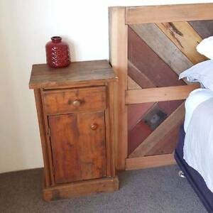 Rustic Solid Timber Bedside Tables Cabinets Lockers W Drawers Coogee Eastern Suburbs Preview