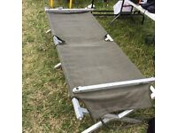 Army issue folding cot bed