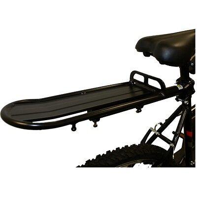 PEDALPRO BLACK ALUMINIUM REAR BICYCLE/BIKE/CYCLE CARGO RACK SEAT POST MOUNT