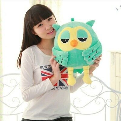 New 1Pc Cotton Plush Owl Cute Large Fine Stuffed Soft Plush Toy Doll Pillow Gift (Owl Pillow Stuffed Owl)