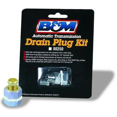 B&M 80250 Universal Transmission Pan Drain Plug Kit