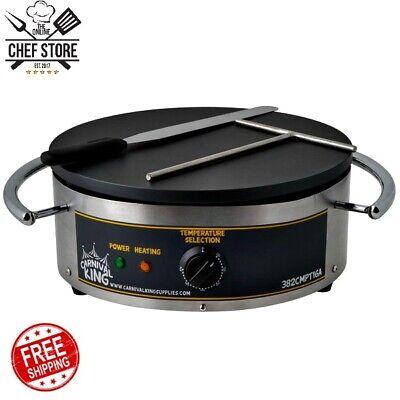16 Round Restaurant Commercial Portable Crepe Maker 120 Volt Kitchen Home Bar
