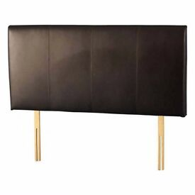 Headboard Palermo 4'6″ in Brown Faux Leather