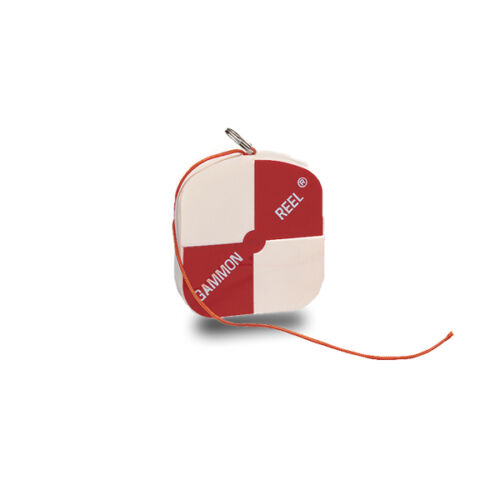 Gammon Reel White & Orange 6.5 Ft. for Plumb Bob, Retractable String Ships Free!