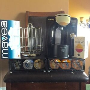 Tassimo coffee maker with accessories