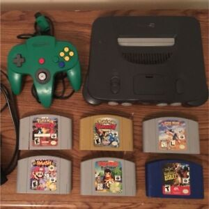 N64 CONSOLE + SUPER SMASH BROS, POKÉMON STADIUM 1 & 2