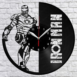 Iron Man Vinyl Record Wall Clock Fan Art Home Decor 12 30cm 1158