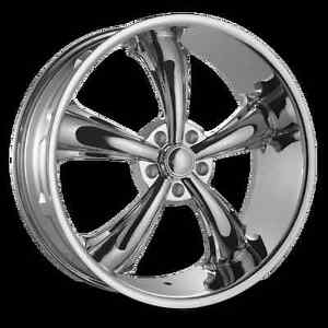 New! CHROME 5 spoke 18 rim/tire mustang charger challenger
