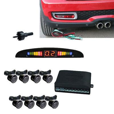 8 Sensoren Display Rückparkhilfe Rückfahrwarner Parksystem Einparkhilfe Schwarz