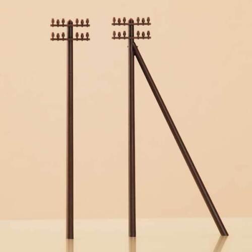 Auhagen 43586 Tt Gauge, Telegraph Poles # New Original Packaging #