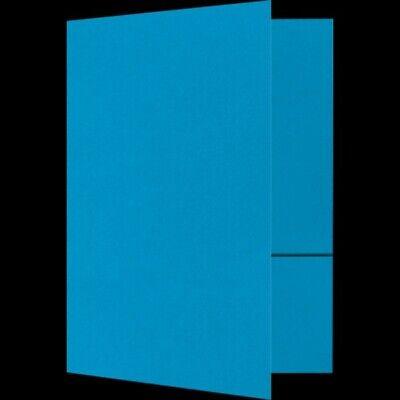 100 Pool Blue 6x9 Presentation Pocket Folders Wtwo 4 Inch Pockets Bc Slits