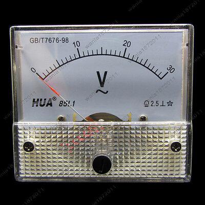 Ac 30v Analog Voltmeter Panel Pointer Volt Voltage Meter Gauge 85l1 0-30v Ac