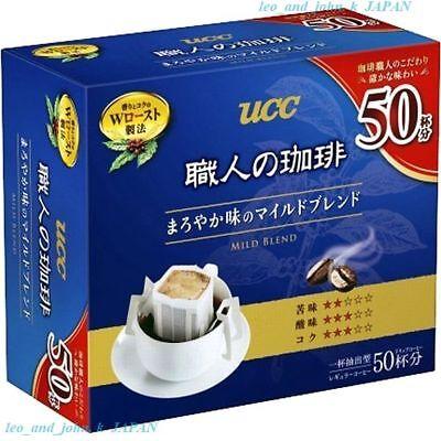 UCC drip coffee Mild blend mellow taste box Lots 50 bags 350g tasty Japan F/S