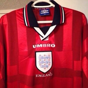 England World Cup Jersey 1998 Football Soccer New Rare