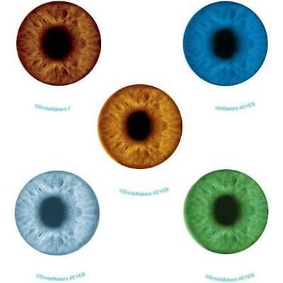 15 Glow In The Dark Eyeball  Stickers Party Favors Teacher Supply Halloween 2.5