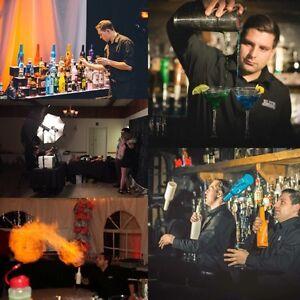 Bottle flipping bartenders & photobooths!
