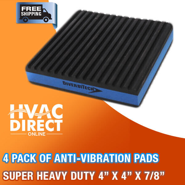 2 Pack Anti Vibration Pads Isolation Dampener Industrial Heavy Duty 4x4x7//8 Cork
