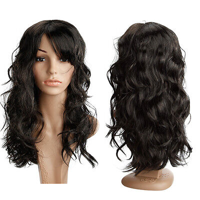 Super Sale Long Newly Ladies Women Full Costume Party Hair Wigs Real Thick hg71