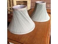 Duck egg lampshades