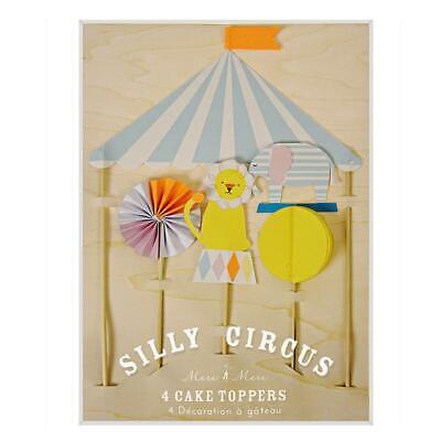 Meri Meri Silly Circus Cake Topper Decorations Topper Party Circus Themed Event](Circus Theme Cake)