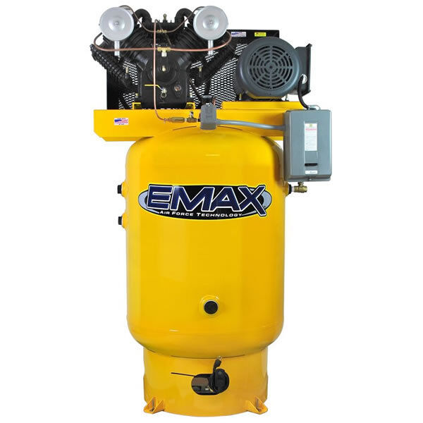 Emax 10-hp 120-gallon V-4 Two-stage Air Compressor (230v 3-phase)