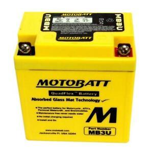 MotoBatt AGM Battery  Yamaha DT125 DT50 XT350 XT500 Motorcycles