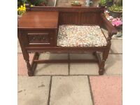 Old charm hallway seat/ table excellent condition ( can deliver )