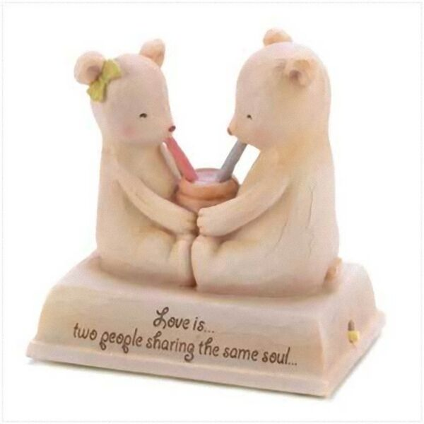 Musical IN LOVE Teddy Bear Heartstring Teddie Figure Valentine Anniversary Gift